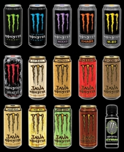 Druhy monster energy